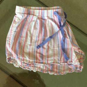 GAP Body pajama shorts pink and blue stripes